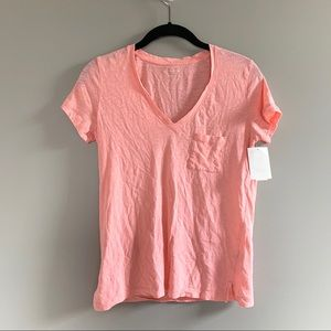 NWOT Madewell Pink Tissue Cotton Tee